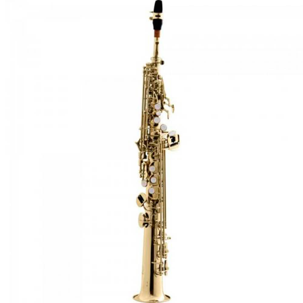 Saxofone Reto Harmonics HST410L Laqueado Soprano em Bb