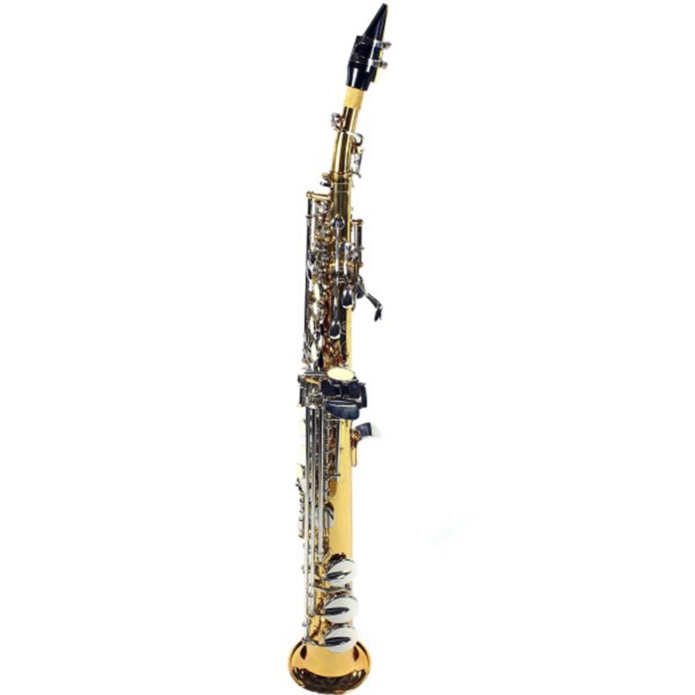 Saxofone Reto Jahnke JSSH001 Laqueado Niquelado Si Bemol