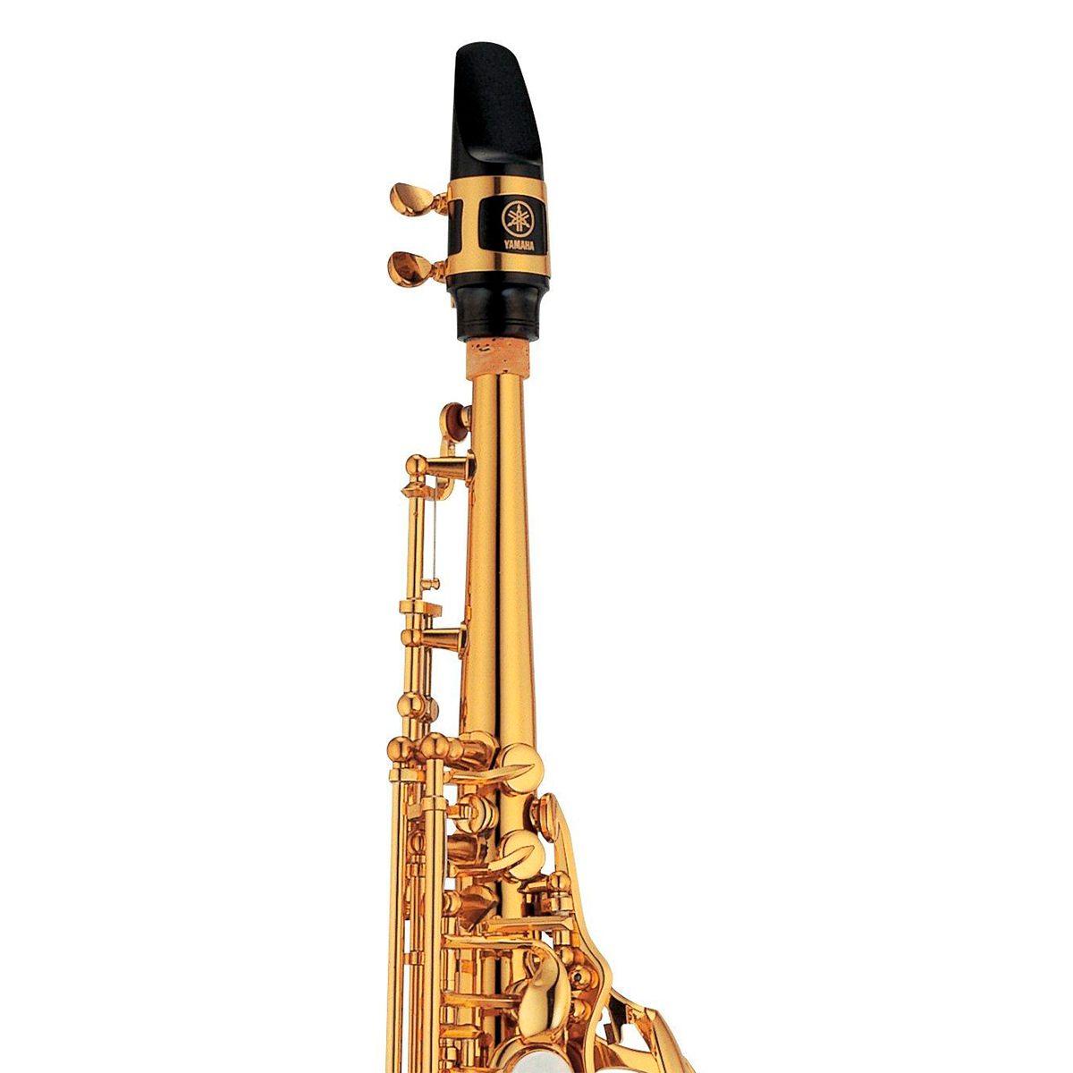 Saxofone Soprano Yamaha YSS457 II Bb Laqueado Dourado com Case