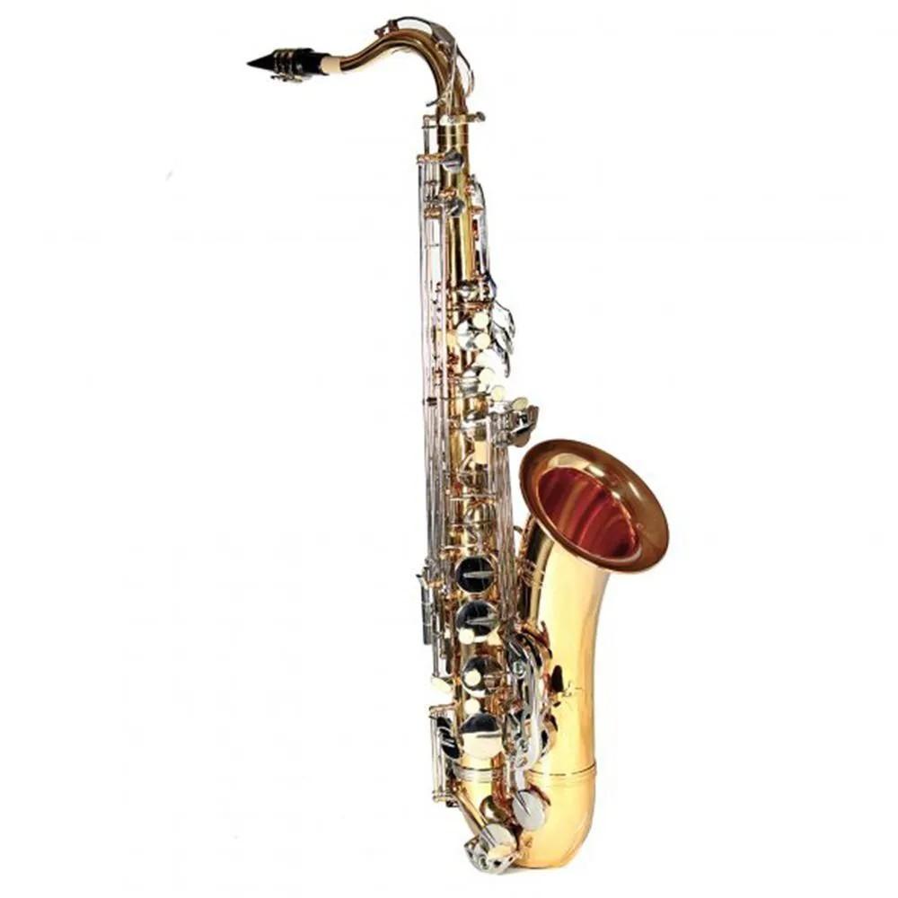 Saxofone Tenor Jahnke JSTH001 Laqueado Niquelado Si Bemol