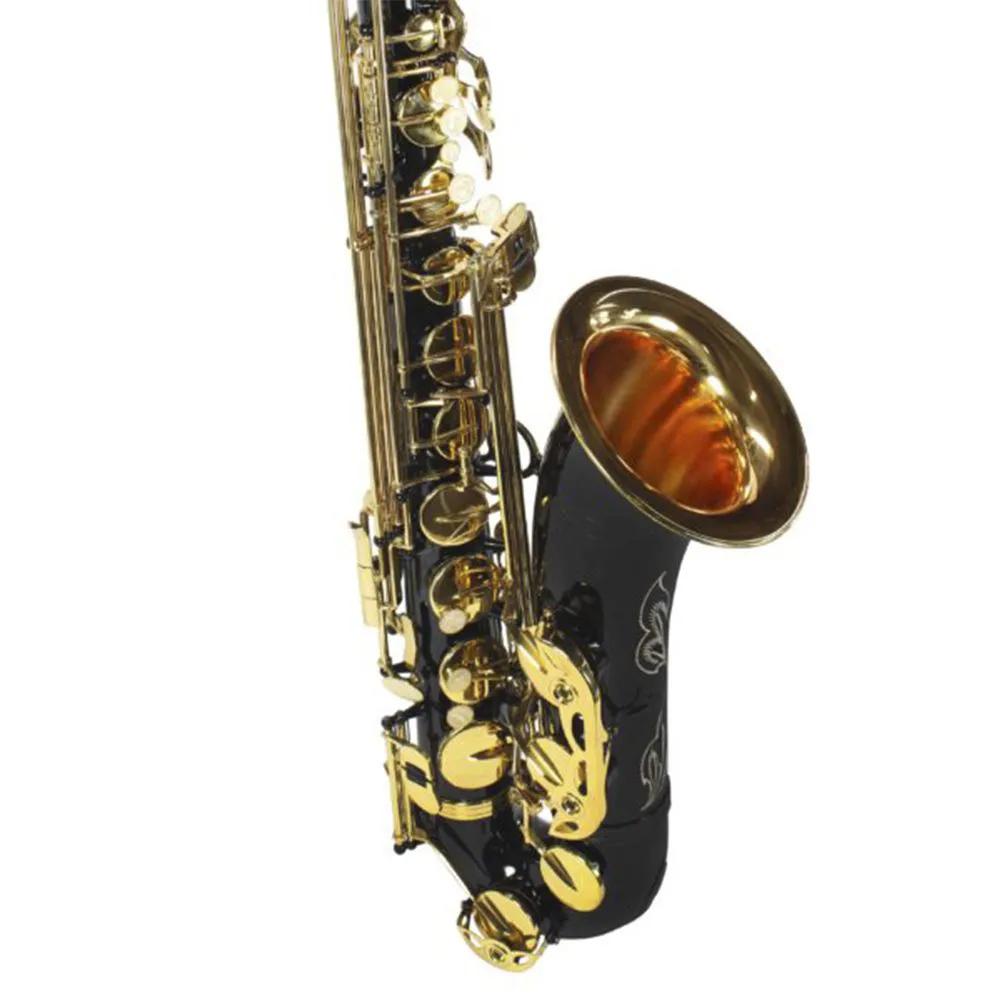 Saxofone Tenor Jahnke JSTH001 Preto Laqueado Si Bemol