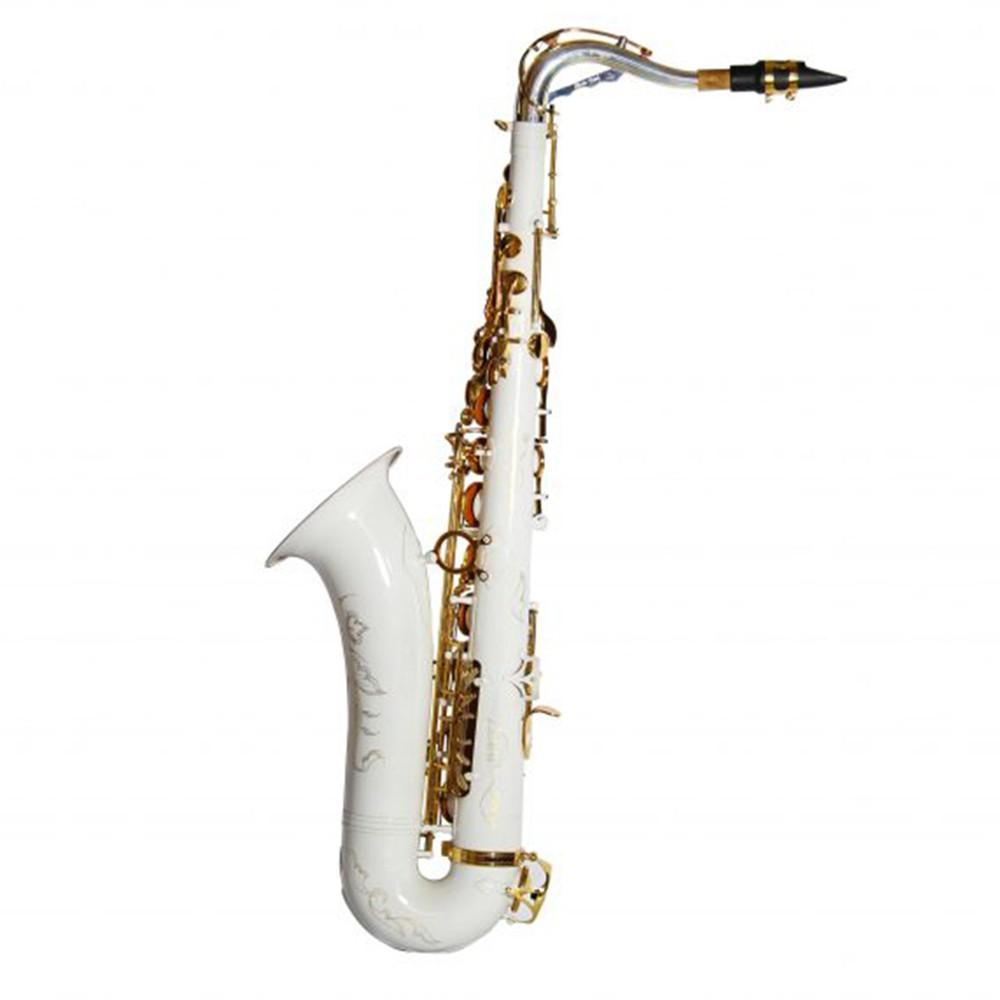 Saxofone Tenor Jahnke JSTH102 Branco Laquedo Si Bemol
