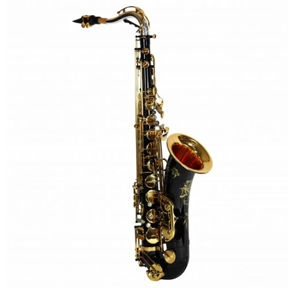 Saxofone Tenor Jahnke JSTH102 Preto Laquedo Si Bemol