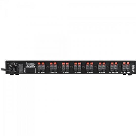 Setorizador de Áudio SH-1012 AMBIENCE LINE Preto HAYONIK