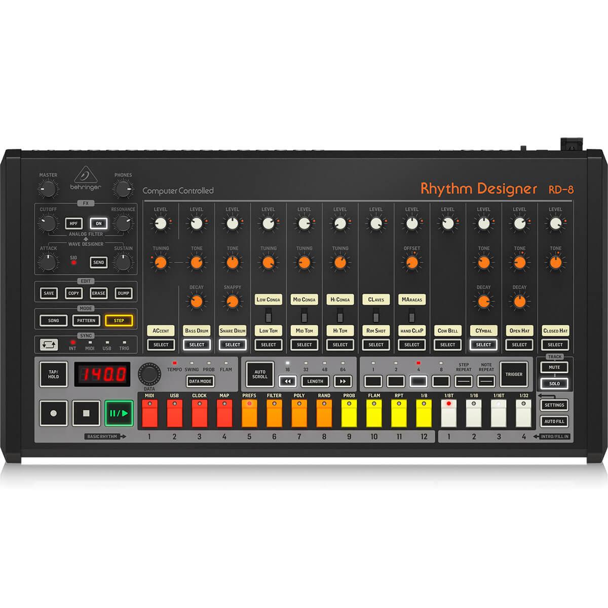 Sintetizador Analogico Behringer Rhythm Designer RD-8