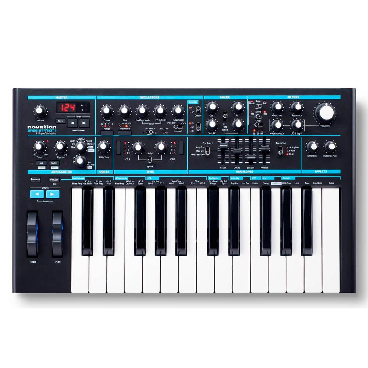 Sintetizador Analógico Novation Bass Satation II