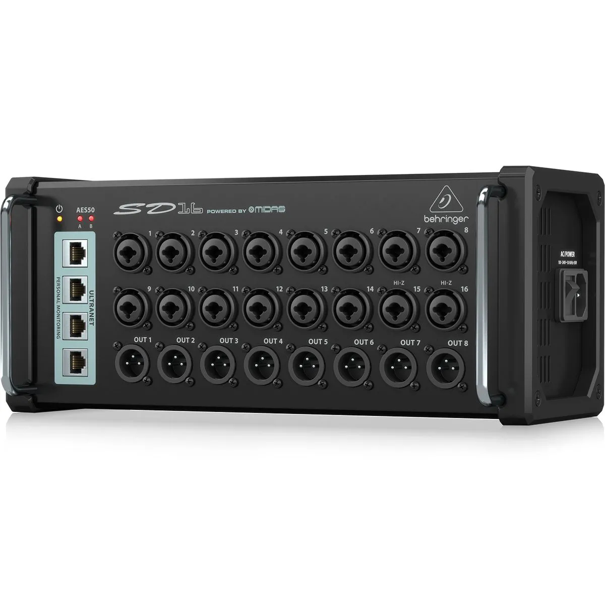 Stage Box Behringer SD16 16-in / 8-out com Pré-Midas