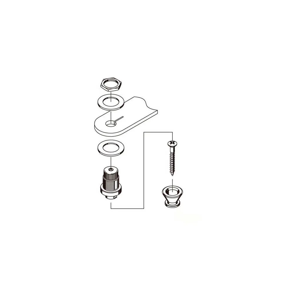 Strap Lock Gotoh EPR-2 Cromado ( Par )
