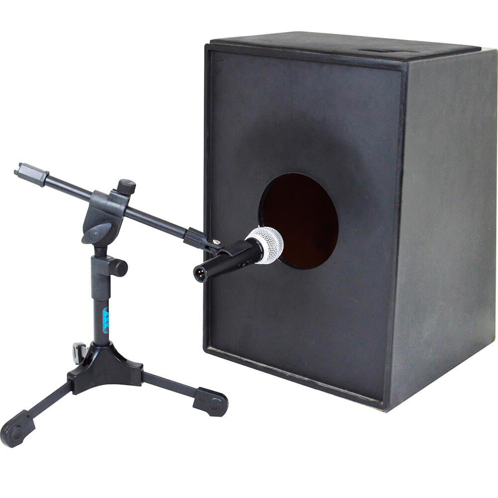 Suporte ASK MB Preto para Microfonar Bumbo