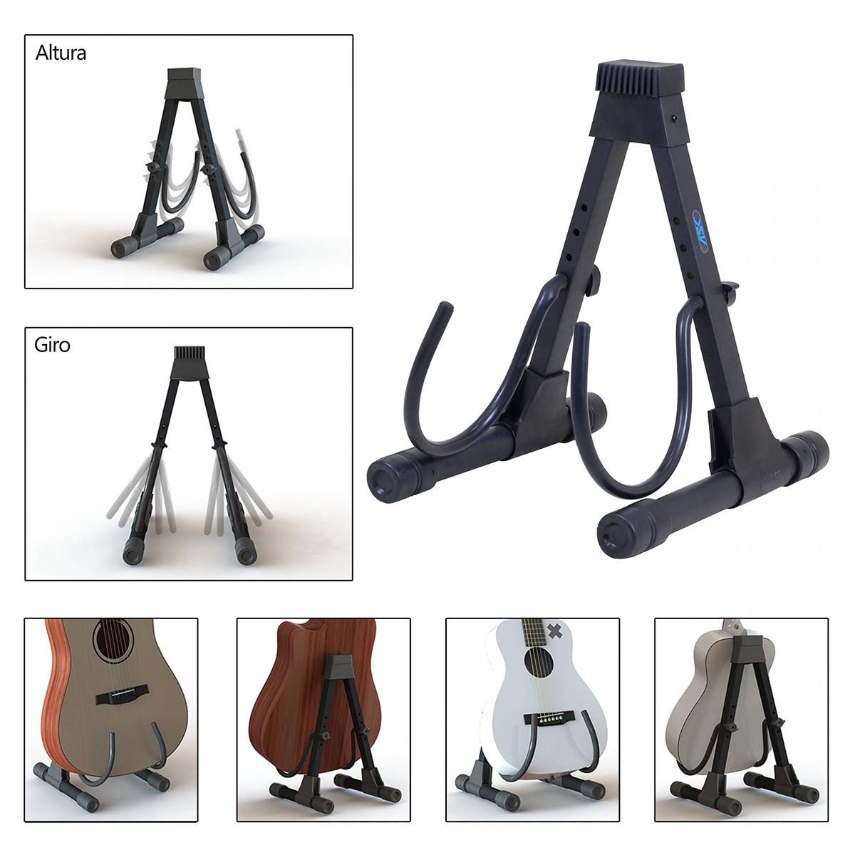 Suporte de Chão ASK SI102 Preto para Instrumentos de Cordas