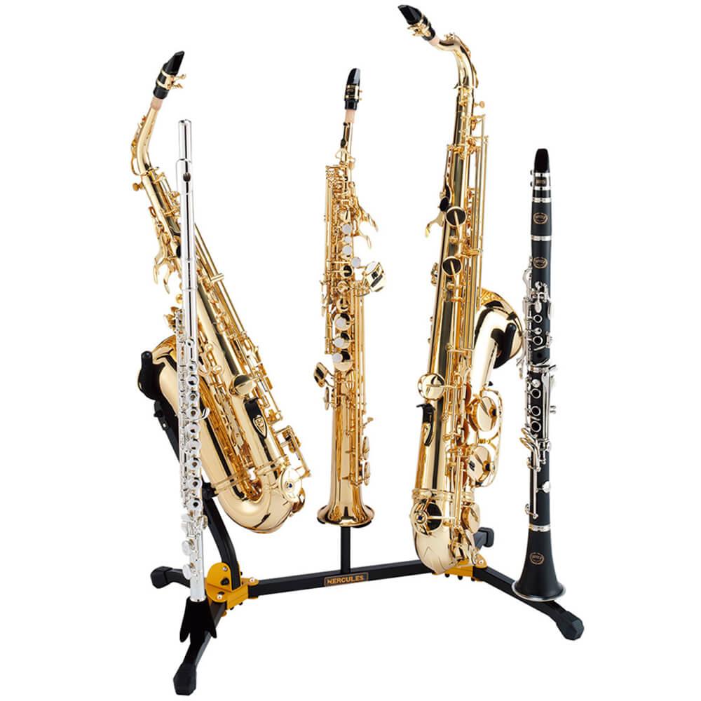 Suporte Duplo Combinado P/sax Alto Tenor Soprano Flauta Clarinete Ds538b Hercules