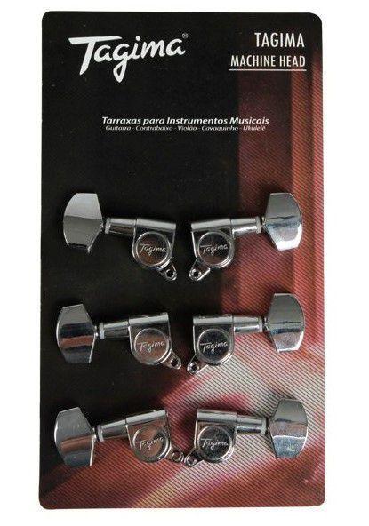 Tarraxas Tagima TMH-801 Blindada para Violão Aço/Guitarra
