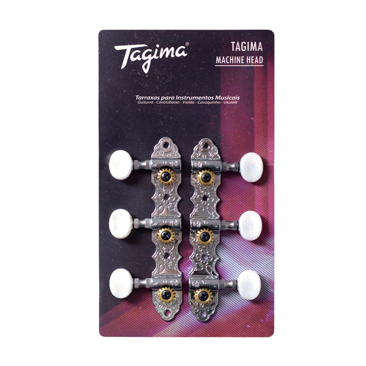 Tarraxas Tagima TMH-831 Cromada para Violão Nylon