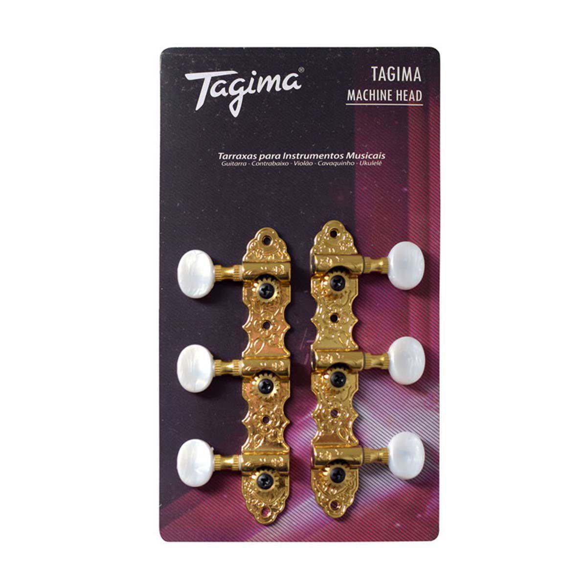 Tarraxas Tagima TMH-831 Dourada para Violão Nylon