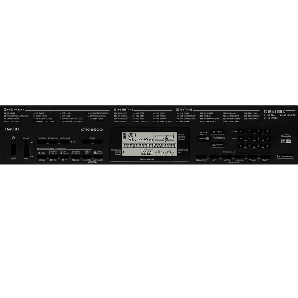 Teclado Arranjador Digital Casio CTK-3500 Preto 61 Teclas