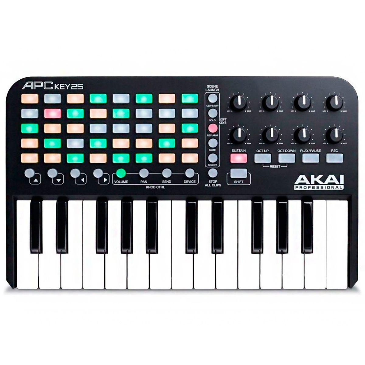 Teclado Controlador Akai Professional APC Key 25 Teclas