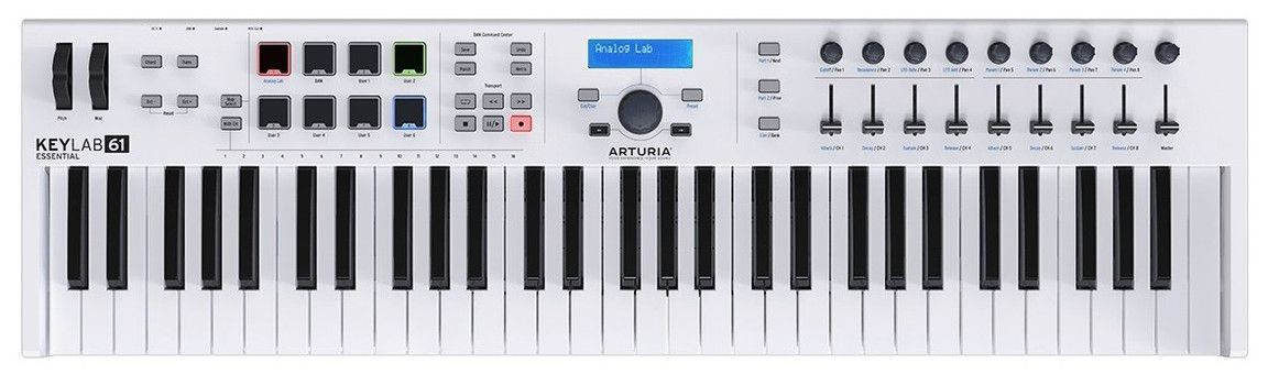 Teclado Controlador Arturia Keylab Essential USB 61 Teclas