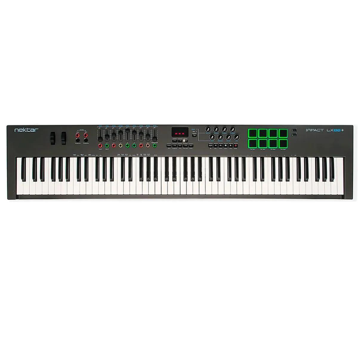 Teclado Controlador Nektar Impact LX88+ MIDI USB 88 Teclas