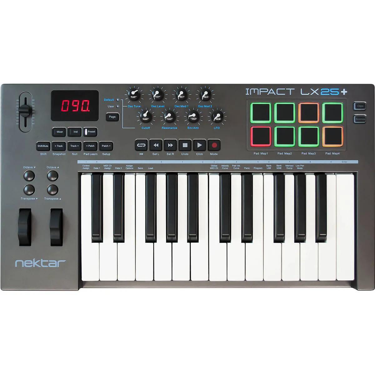 Teclado Controlador Nektar Impact LX25+ MIDI USB 25 Teclas