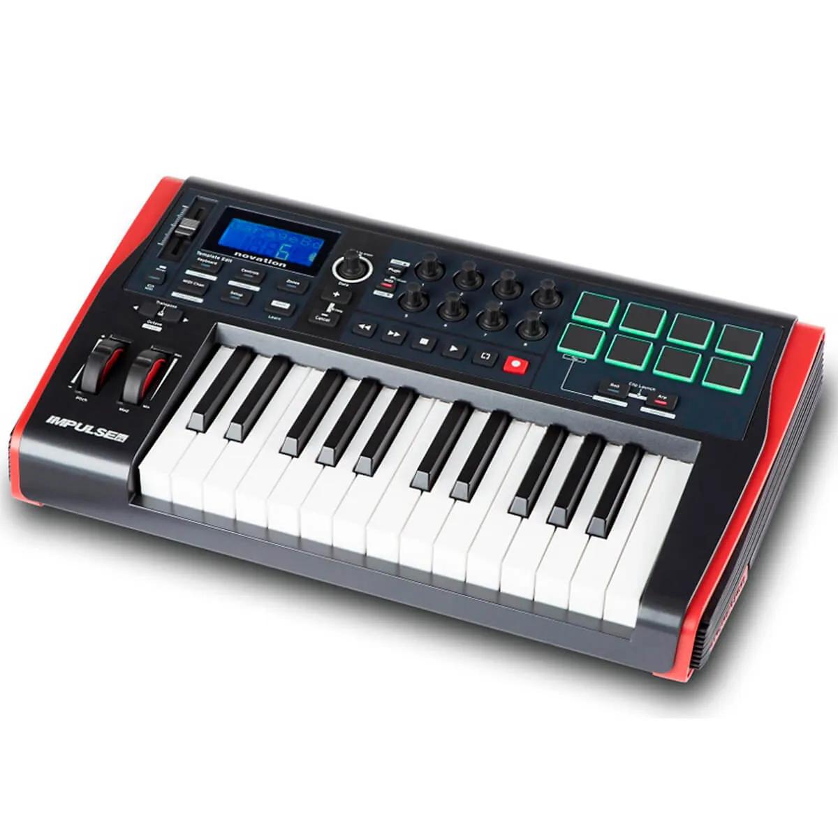 Teclado Controlador Novation Impulse 25 USB / MIDI