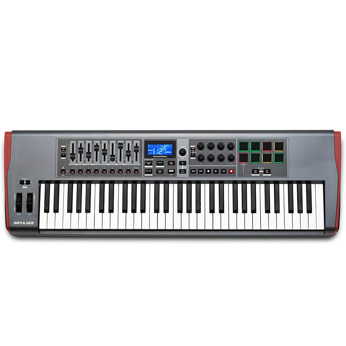Teclado Controlador Novation Impulse 61 USB/MIDI