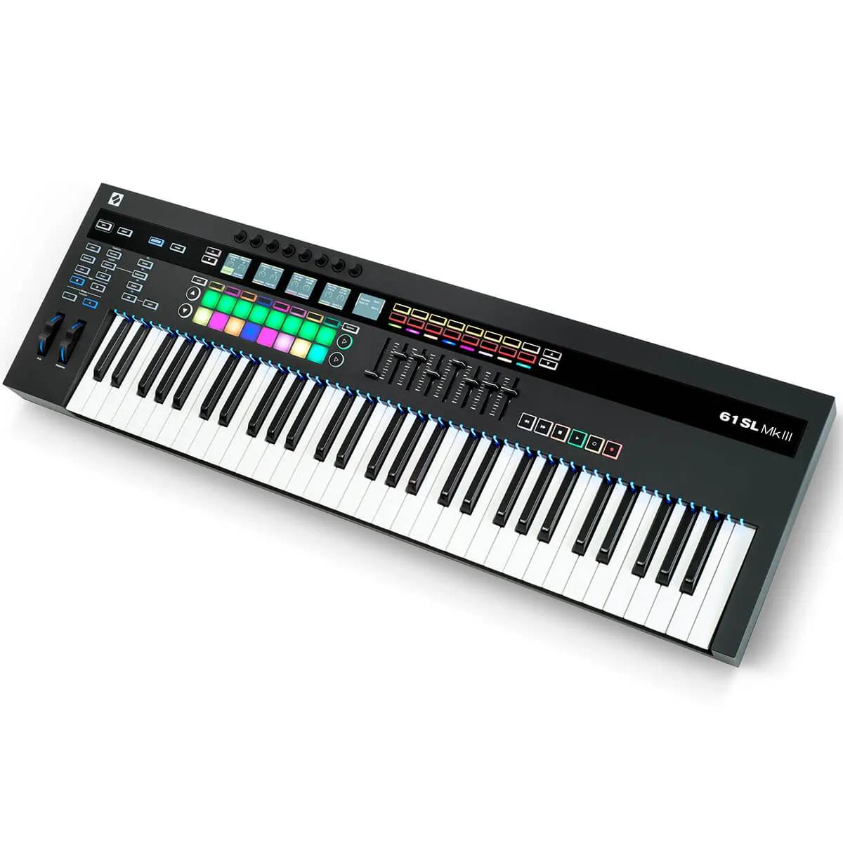 Teclado Controlador Novation SL MK3-61 MIDI Usb 61 Teclas
