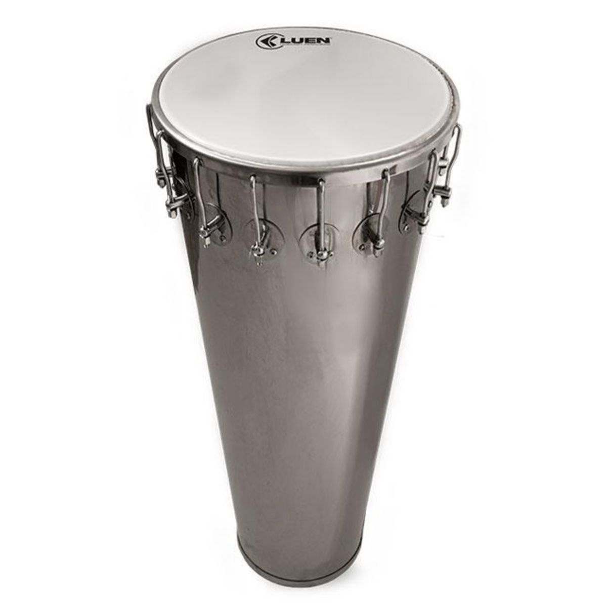 Timbal Luen Percussion 90x14 Inox Cromadas com Pele Leitosa