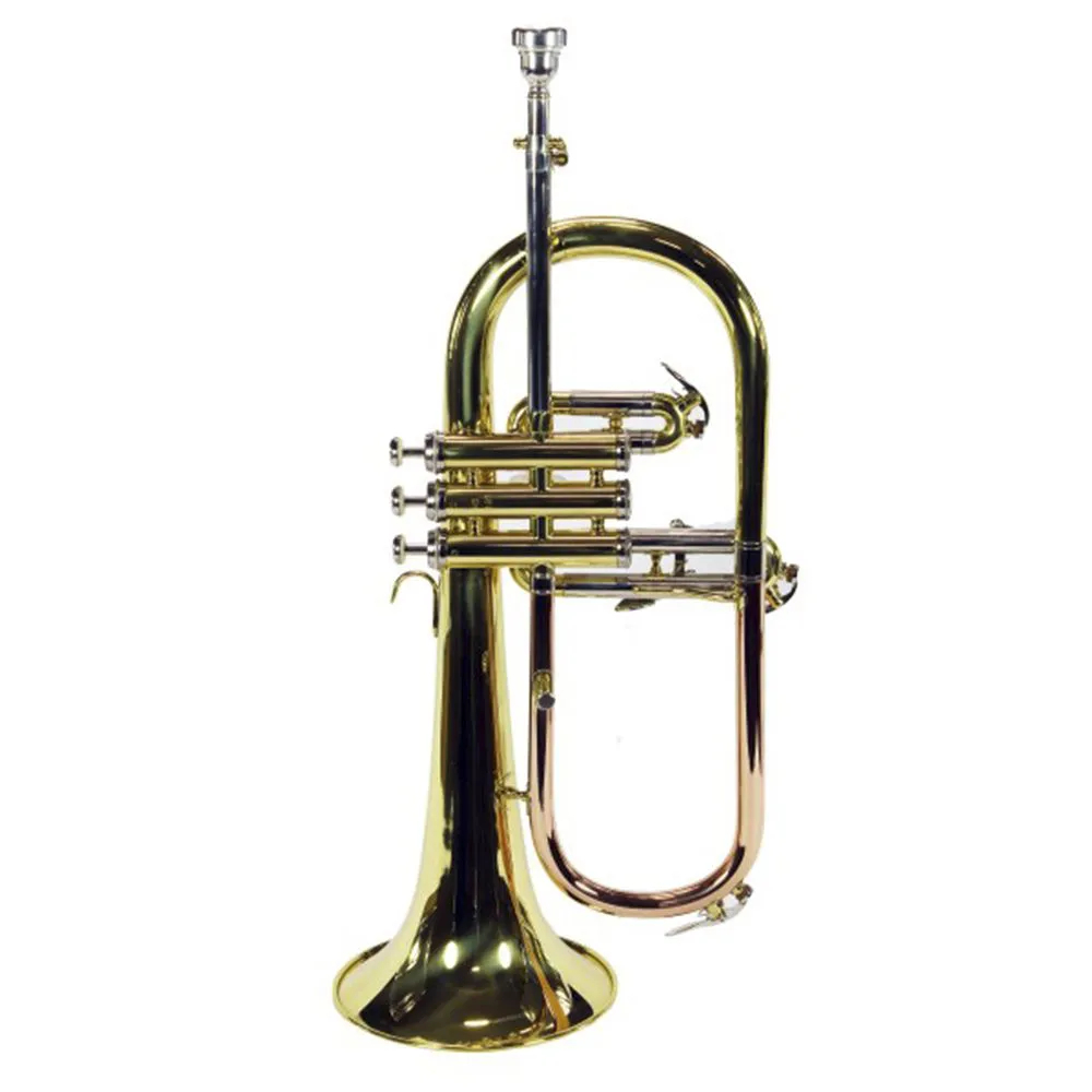 Trompete 3 Pistos Jahnke Flugelhorn JTR012 Si Bemol Laqueado