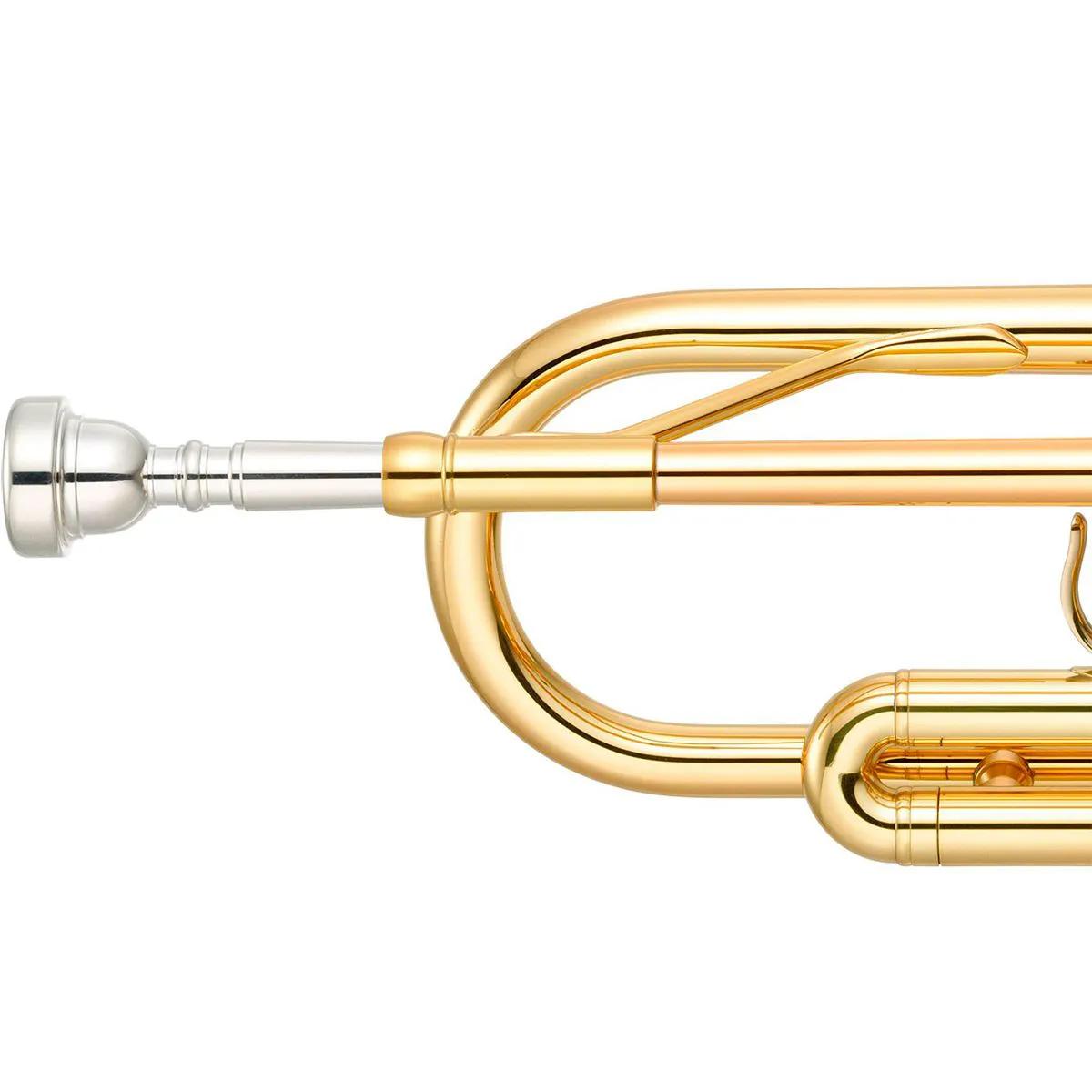 Trompete Yamaha YTR3335 Bb Laqueado Dourado com Case