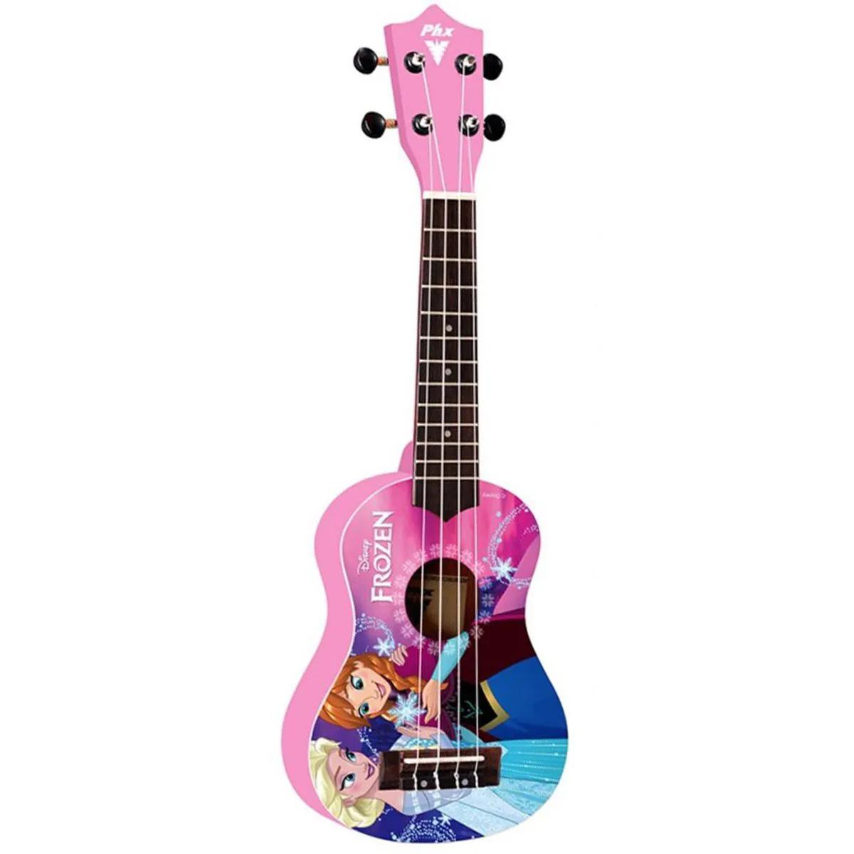 Ukulele Acústico PHX UKP-F2 Soprano 21 Frozen Pink com Capa