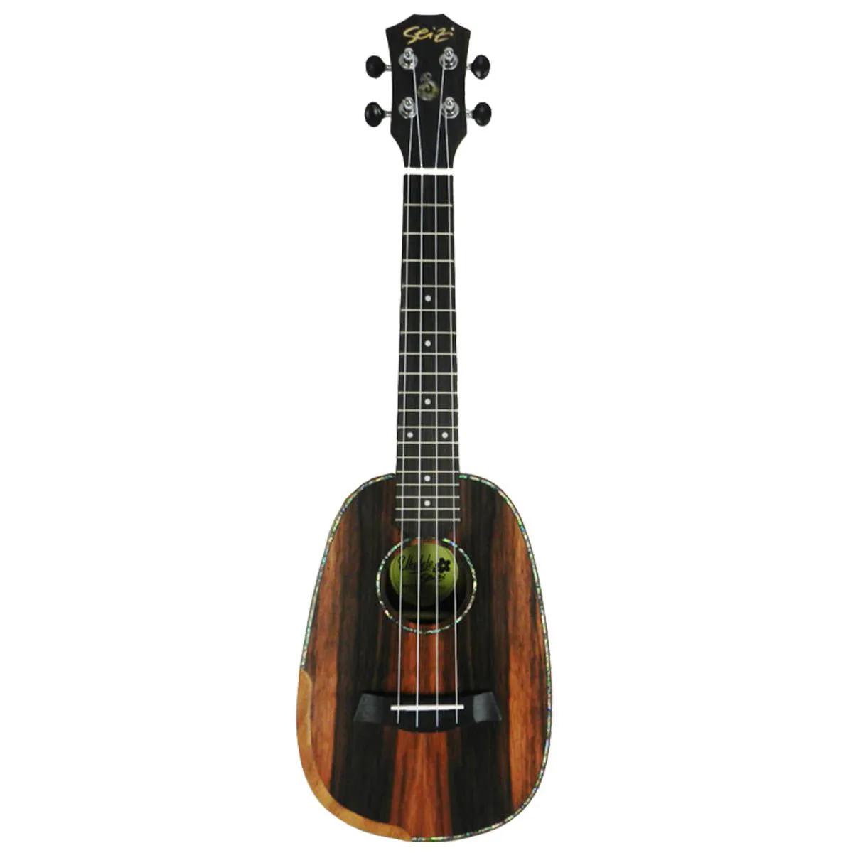 Ukulele Acústico Seizi Bora-Bora Pineapple Concert Ebony