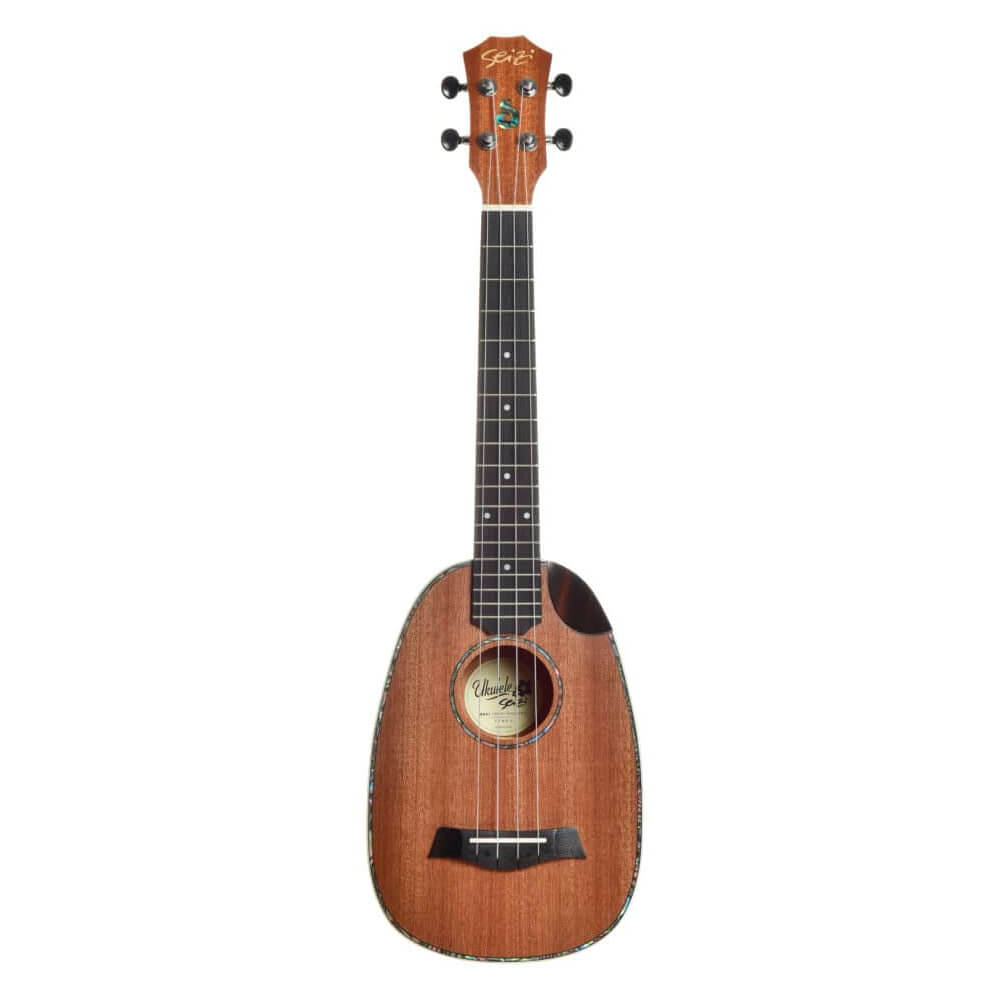 Ukulele Acústico Seizi Maui Crush Pineapple Tenor Sapele com Bag