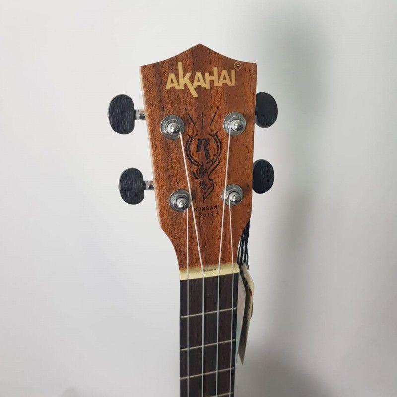 Ukulele Akahai KM-30 Baritono com Cordas Aquila e Bag