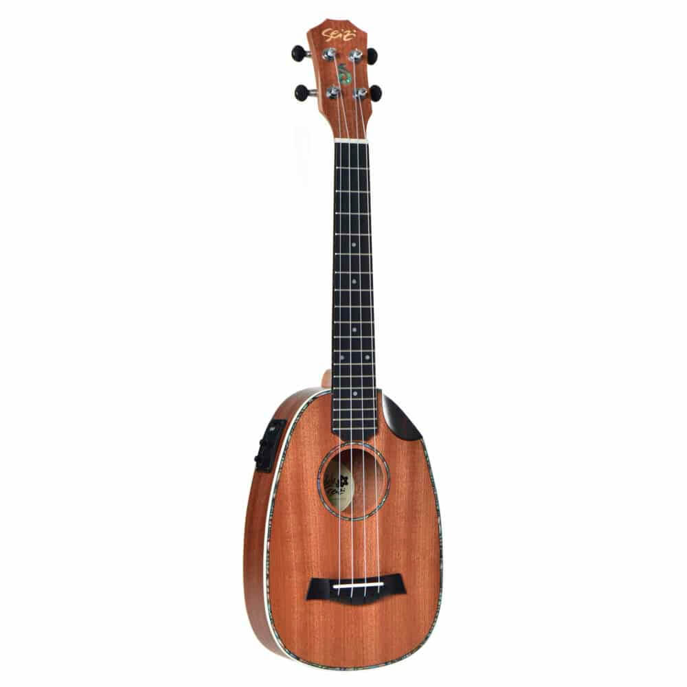 Ukulele Elétrico Seizi Maui Crush Pineapple Tenor Sapele com Bag