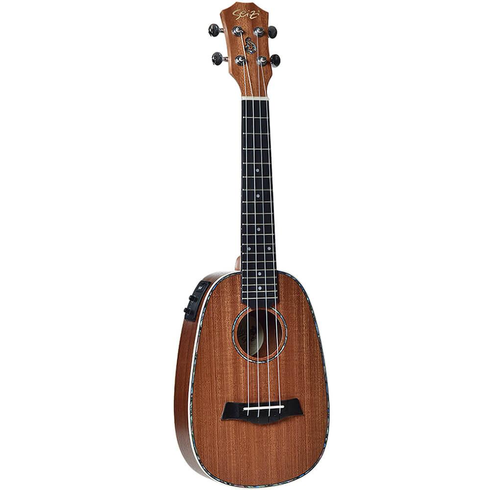 Ukulele Elétrico Seizi Maui Plus Pineapple Concert Sapele