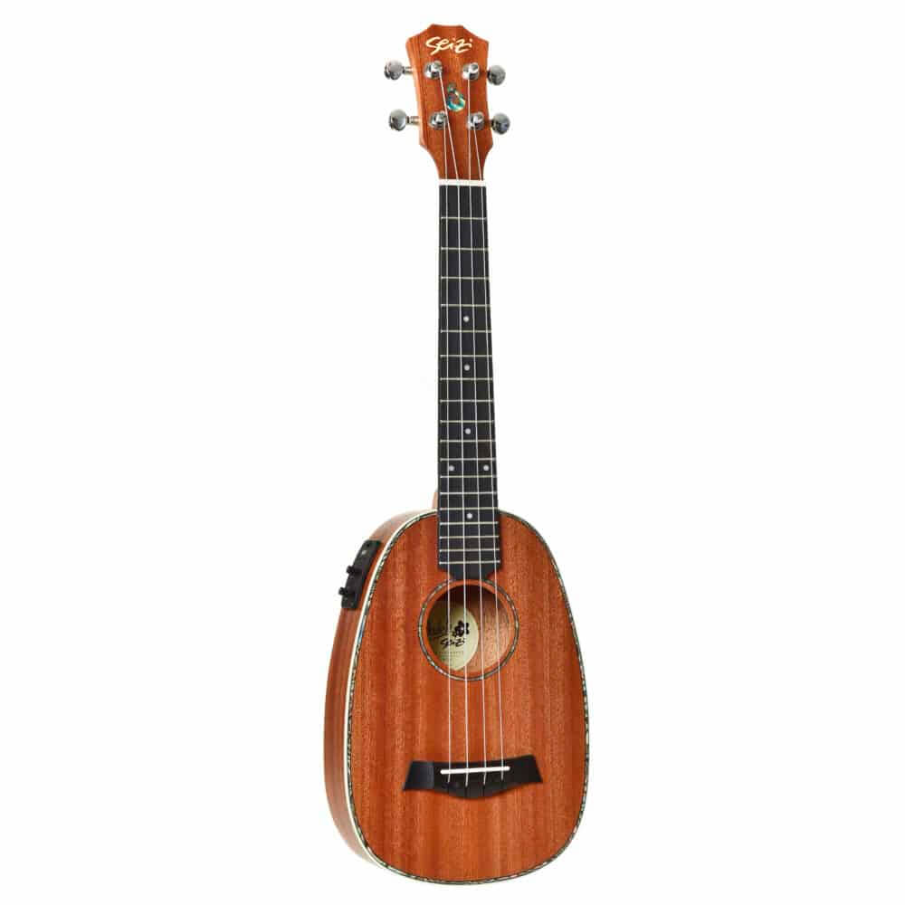 Ukulele Elétrico Seizi Maui Plus Pineapple Tenor Sapele com Bag