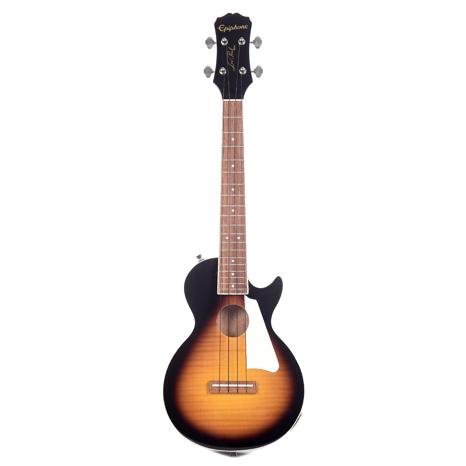 Ukulele Eletro-Acústico Epiphone Les Paul Concert Sunburst