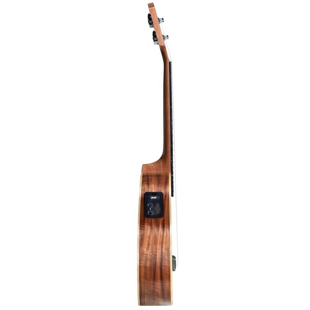 Ukulele Eletro-Acústico Seizi Kauai Tenor Koa com Bag