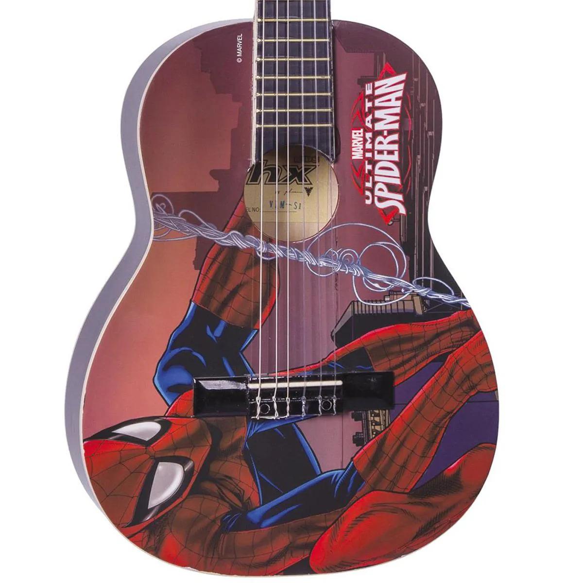 Violão Acústico Juvenil PHX VIM-S1 Marvel Spider-Man Nylon
