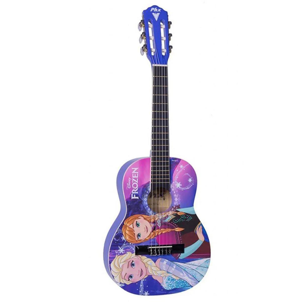 Violão Acústico PHX VIF-2 Disney Frozen Elsa e Anna com Capa