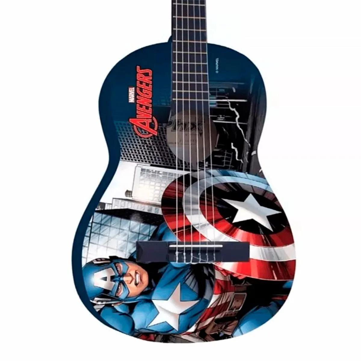 Violão Acústico PHX VIM-C1 Marvel Capitão Nylon com Capa