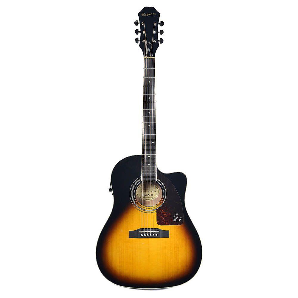 Violão Eletro-Acústico Epiphone AJ220 SCE Folk Sunburst