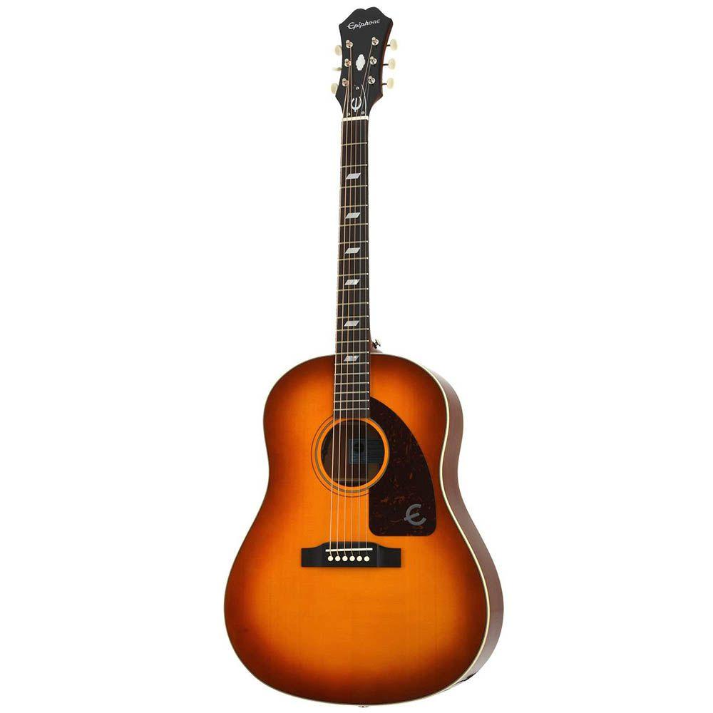Violão Eletro-Acústico Epiphone Texan 1964 Vintage Cherry