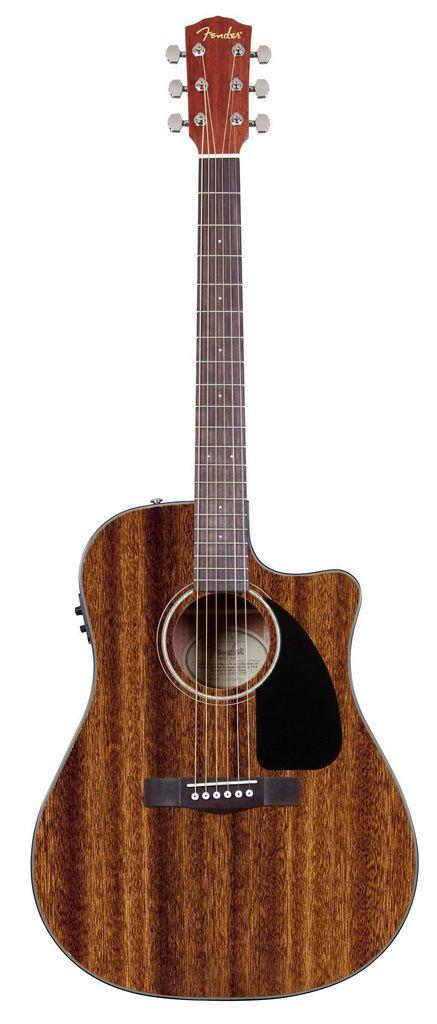 Violão Eletro-Acústico Fender CD-60 Dreanought Cutaway com Case