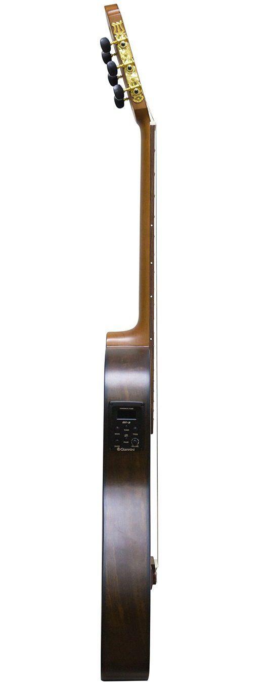Violão Eletro-Acústico Giannini NFL IMBU CEQ NS Clássico Flat com Cutaway