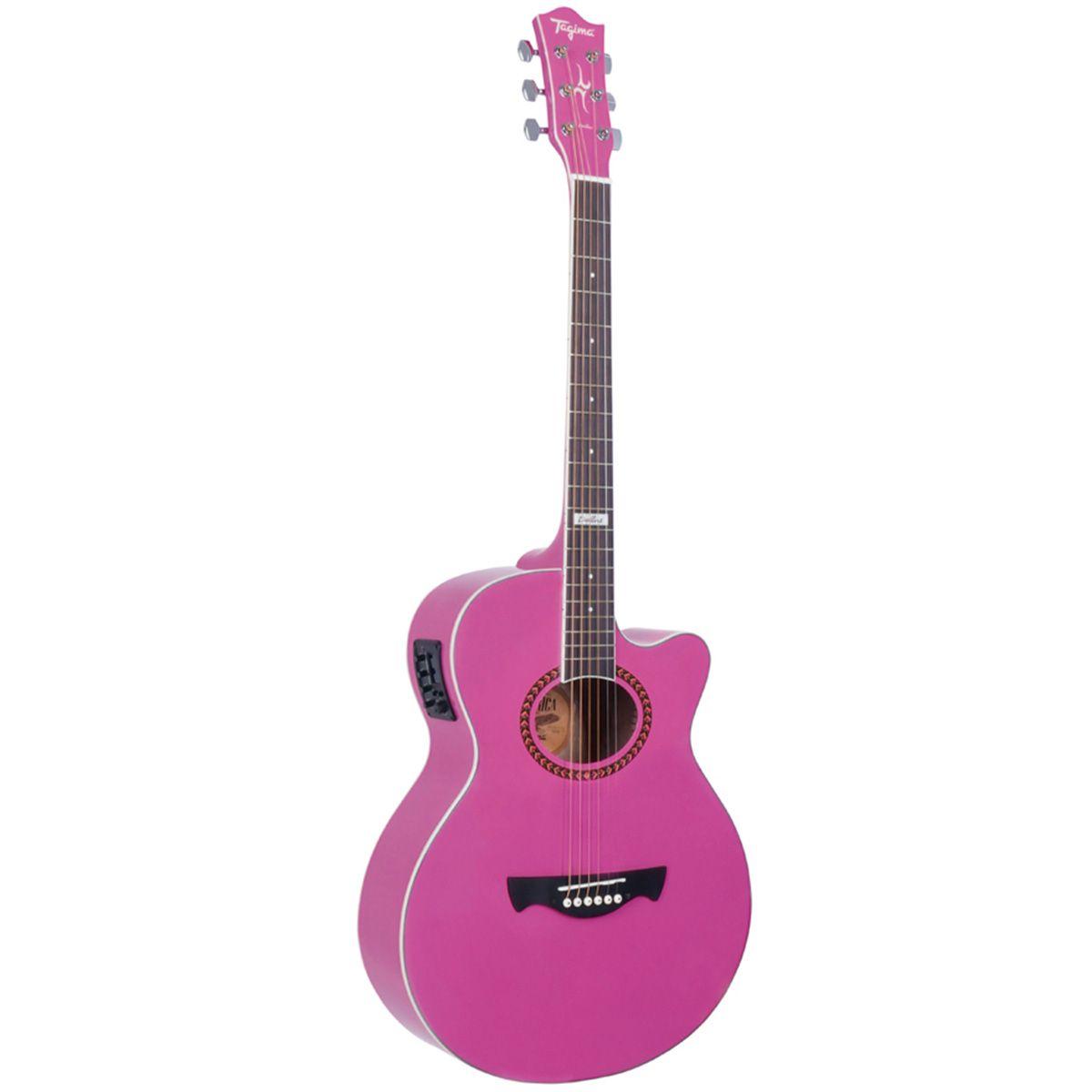 Violão Eletro-Acústico Tagima Dallas Tuner com TEQ-8 Pink