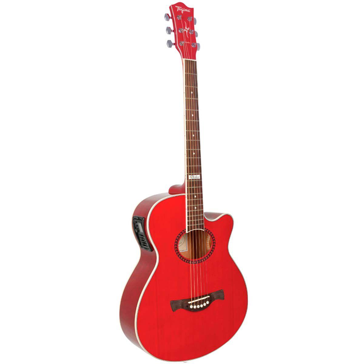 Violão Eletro-Acústico Tagima Dallas Tuner com TEQ-8 Red