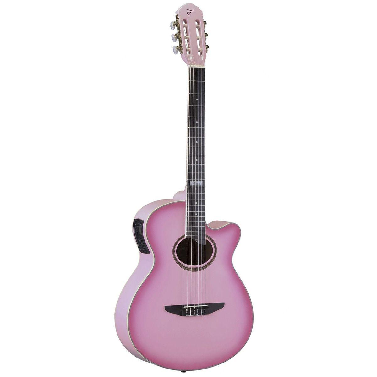 Violão Eletro-Acústico Tagima Vegas Tuner Nylon Pink