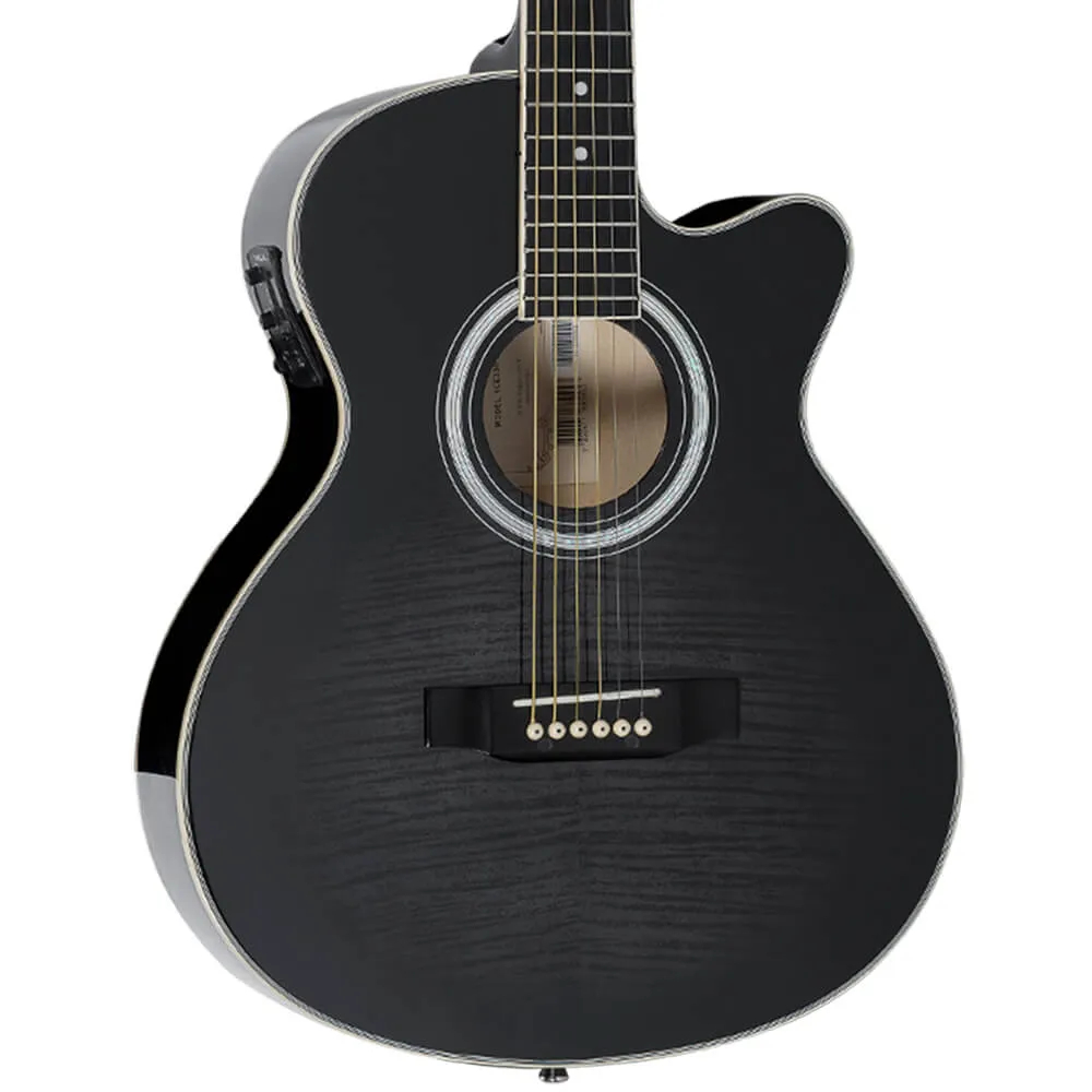 Violão Eletro-Acústico Vogga VCE330BMF Black Maple Flamed