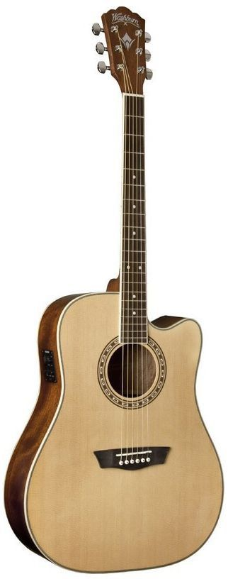 Violão Eletro-Acústico Washburn WD10CE Dreadnought Natural